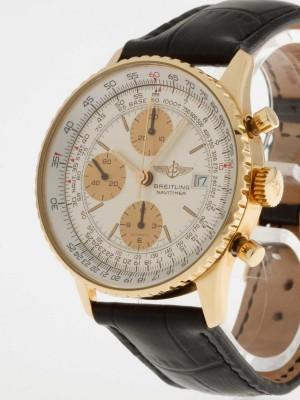Breitling Navitimer Chronograph 18 Kt. Gold/Krokolederband Ref. K13019
