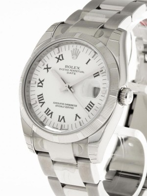 Rolex Oyster Perpetual Date (NOS) Edelstahl LC 100 Ref. 115210