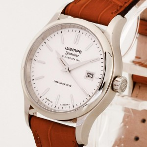 Wempe Zeitmeister Glashütte Chronometer braunes Krokoleder Ref. 620367