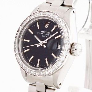 Rolex Oyster Perpetual Date Lady aftermarket Diamantlünette Ref. 6916