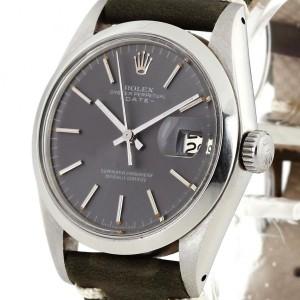 Rolex Oyster Perpetual Date Edelstahl am Lederband Ref. 1500