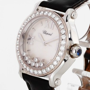 Chopard Happy Sport Diamond Edelstahl an Krokoleder Ref. 27/8478-20