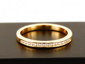Ring 14 K Gelbgold mit 16 Brillanten mit gesamt 0,15 ct.