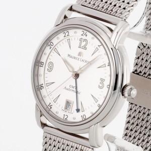 Maurice Lacroix Pontos GMT Edelstahl Ref. 10818