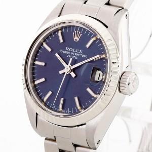 Rolex Oyster Perpetual Datejust Lady 26mm mit blauem Zifferblatt Ref. 6917