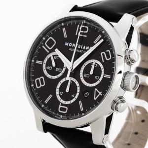 Montblanc Timewalker Chronograph Edelstahl an Lederband Ref. 7069