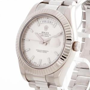 Rolex Oyster Perpetual Day-Date II 18 K Weißgold Ref. 218239