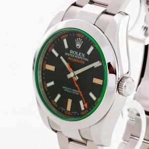 Rolex Oyster Milgauss GV Edelstahl Fullset 2012