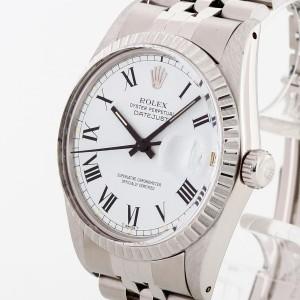 Rolex Oyster Perpetual Datejust 36 Edelstahl mit weißem Zifferblatt Ref. 16030