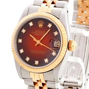 Rolex Datejust Medium Red Vignette mit Diamanten Ref. 68273