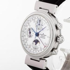 Jacques Lemans Mondphasen Kalender Chronograph Automatik Edelstahl Ref. 1-861