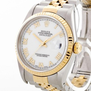 Rolex Oyster Perpetual Datejust 36 Edelstahl/18 K Gold Ref. 16233