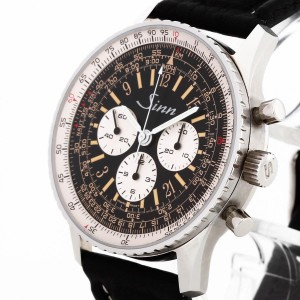 Sinn Navitimer Chronograph stainless steel with leather strap Ref. 903ST