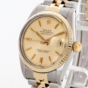 Rolex Oyster Perpetual Datejust 36 Edelstahl/18 K Gelbgold Ref. 16013