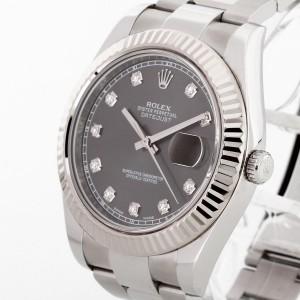 Rolex Oyster Perpetual Datejust II 41 Edelstahl/18 K Weißgold mit Diamanten Ref. 116334