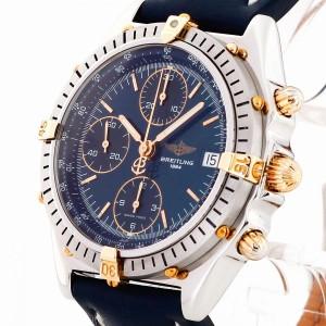 Breitling Chronomat Edelstahl/Gold an Lederband Ref. B13047