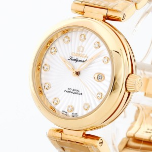Omega De Ville Ladymatic 18 K Gold Brillanten Co-Axial 34mm Ref. 42560342055002