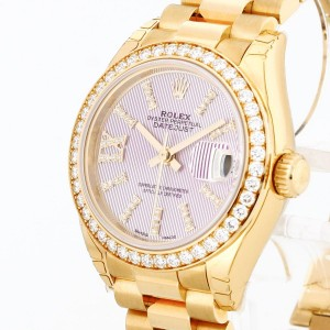 Rolex Oyster Perpetual Lady-Datejust 18 K Gelbgold mit orig.Diamanten Ref. 279138RBR