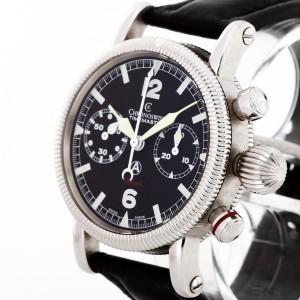 Chronoswiss Timemaster Chronograph Flyback Edelstahl an Leder Ref. CH7633