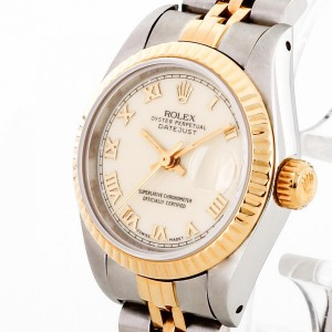 Rolex Oyster Perpetual Lady Datejust 26 Edelstahl/18K Gold LC100 Ref. 69173