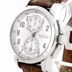 Maurice Lacroix Pontos Automatik Chronograph Edelstahl an Lederband PT7538/48
