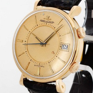 Jaeger-LeCoultre Memovox Rotgold an Lederband Vintage