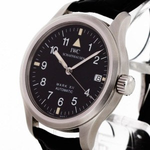 IWC Schaffhausen Pilot Mark XII automatic stainless steel with leather strap Ref. 3241