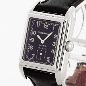 Girard-Perregaux Richeville stainless steel with leather strap Ref. 2520
