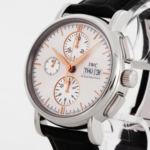 IWC Schaffhausen Portofino Chronograph stainless with leather strap Ref. IW378302