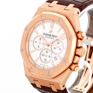 Audemars Piguet Royal Oak Chronograph 18 K Roségold an Lederband Ref.26320OR.OO.D088CR.01 Fullset