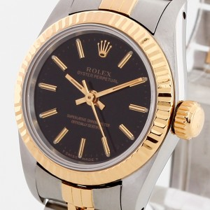 Rolex Oyster Perpetual Lady Edelstahl/18 K Gelbgold Ref. 67193