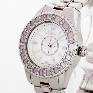 Dior stainless steel Diamond Bezel Ladys Watch Ref. CD112111