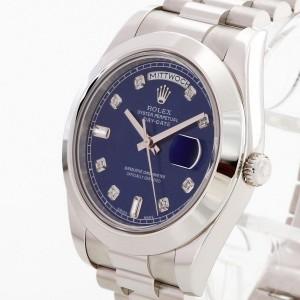 Rolex Oyster Perpetual Day-Date II Platin Präsidentband mit zwei Zifferblättern Ref. 218206