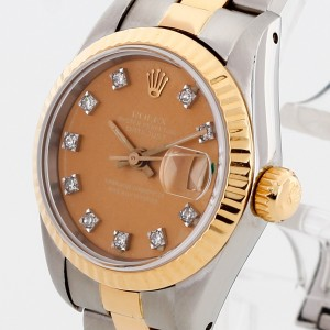Rolex Oyster Perpetual Lady Datejust Edelstahl/18 K Gelbgold Diamant Ref. 69173