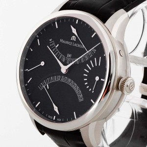 Maurice Lacroix Double Rétrograde GMT Stahl Ref. MP6518
