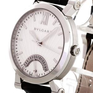 Bvlgari Bulgari Sotirio Retrograde Date Edelstahl an Lederband Ref. 101707 SB42SDR