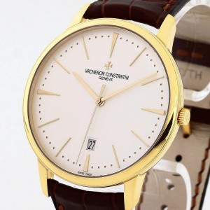 Vacheron Constantin Patrimony yellow gold with leather strap Ref. 85180/000J