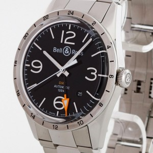 Bell & Ross Vintage GMT BR123 stainless steel Ref. BR123GMT