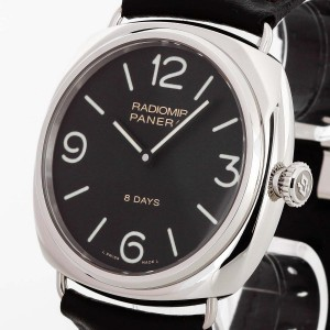 Panerai Radiomir 8 Days stainless steel with leather strap Ref. PAM 00610