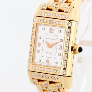 Jaeger-LeCoultre Reverso 18 k yellow gold diamond ladies Ref. 267.1.86