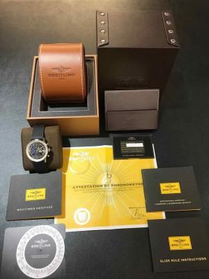 Breitling Navitimer Heritage Chronograph Edelstahl an Kautschuk Ref. A133242A/BF27
