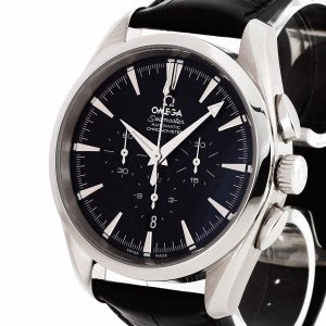 Omega Seamaster Chrono with black croco leather strap Ref. 28125037