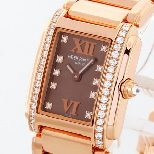 Patek Philippe Twenty 4 Diamond 18 K Rosegold Ladies Ref. 4908/11R-011