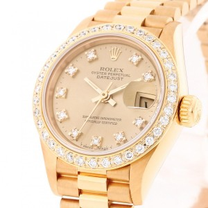 Rolex Oyster Perpetual Lady Datejust 26 mm yellow gold Ref. 69138 LC100