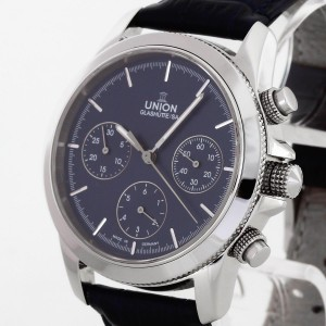Union Glashütte Chronograph Classic Manufacture stainless steel Ref. 26-31-06-04-10