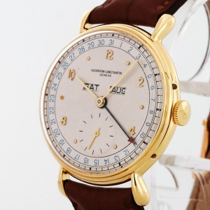 Vacheron Constantin Vintage Calendar 18 k Yellow Gold with leather from 1951
