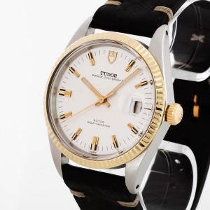 Tudor Prince Oysterdate Jumbo Vintage Edelstahl/18 K Gold an Lederband Ref. 7025/3