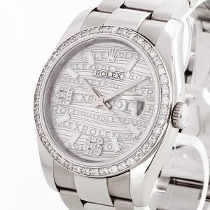 Rolex Oyster Perpetual Datejust Edelstahl mit silbernem Zifferblatt Ref. 116200