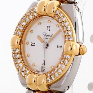 Chopard Gstaad Lady mit Diamanten Quarz Edelstahl/18 K Gelbgold Ref. 23/8112