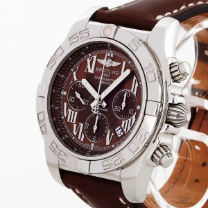 Breitling Chronomat B01 44mm stainless steel with leather strap brown Ref. AB011012/Q566